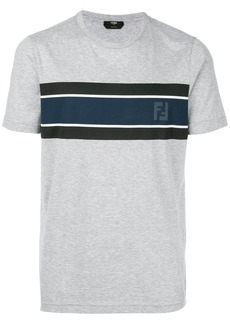 Fendi contrast panel logo T-shirt