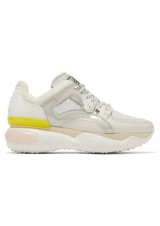 Fendi Contrast-panel low-top trainers
