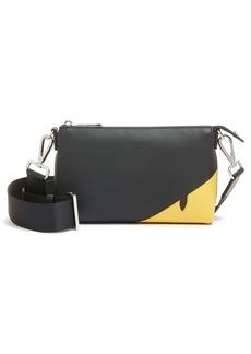 Fendi Corner Bugs Mini Leather Messenger Bag