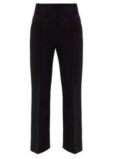Fendi Cropped cady tailored trousers