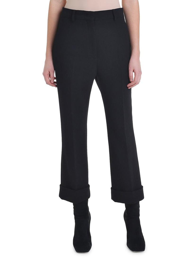 Fendi Cropped Wool Crepe Skinny Pants