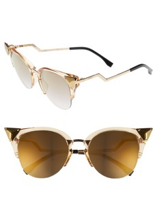 Fendi Crystal 52mm Tipped Cat Eye Sunglasses
