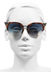 Fendi Crystal 52mm Tipped Cat Eye Sunglasses