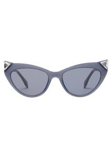 Fendi Crystal-embellished cat-eye acetate sunglasses