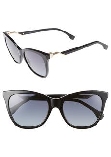Fendi Cube 55mm Cat Eye Sunglasses