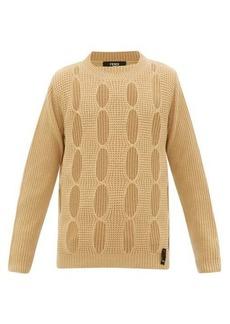 Fendi Cut-out cashmere sweater