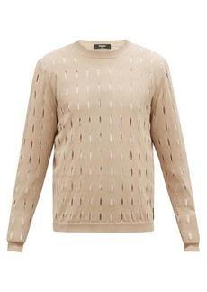 Fendi Cutout logo-tab cotton sweater