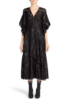Fendi Daisy Fil Coupé Midi Dress