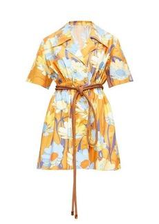 Fendi Daisy-print poplin shirt dress