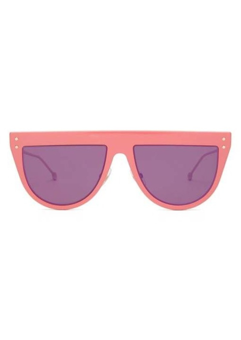 Fendi DeFender D-frame optyl and metal sunglasses