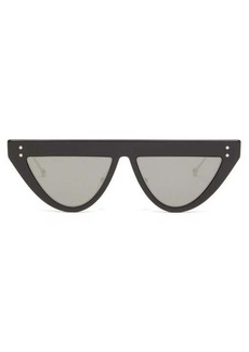 Fendi DeFender D-frame optyl and metal sunglasses