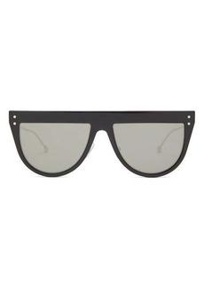 Fendi Defender flat-top acetate and metal sunglasses