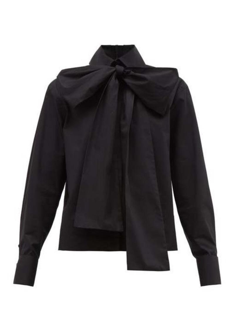 Fendi Detachable-pussybow cotton-poplin shirt