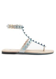 Fendi Dégradé spike-embellished leather sandals