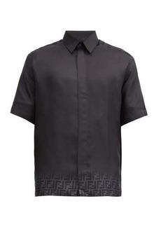 Fendi Dégredé FF-logo silk-twill shirt