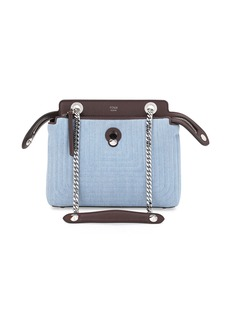 Fendi Dot Com Mini Denim Satchel Bag