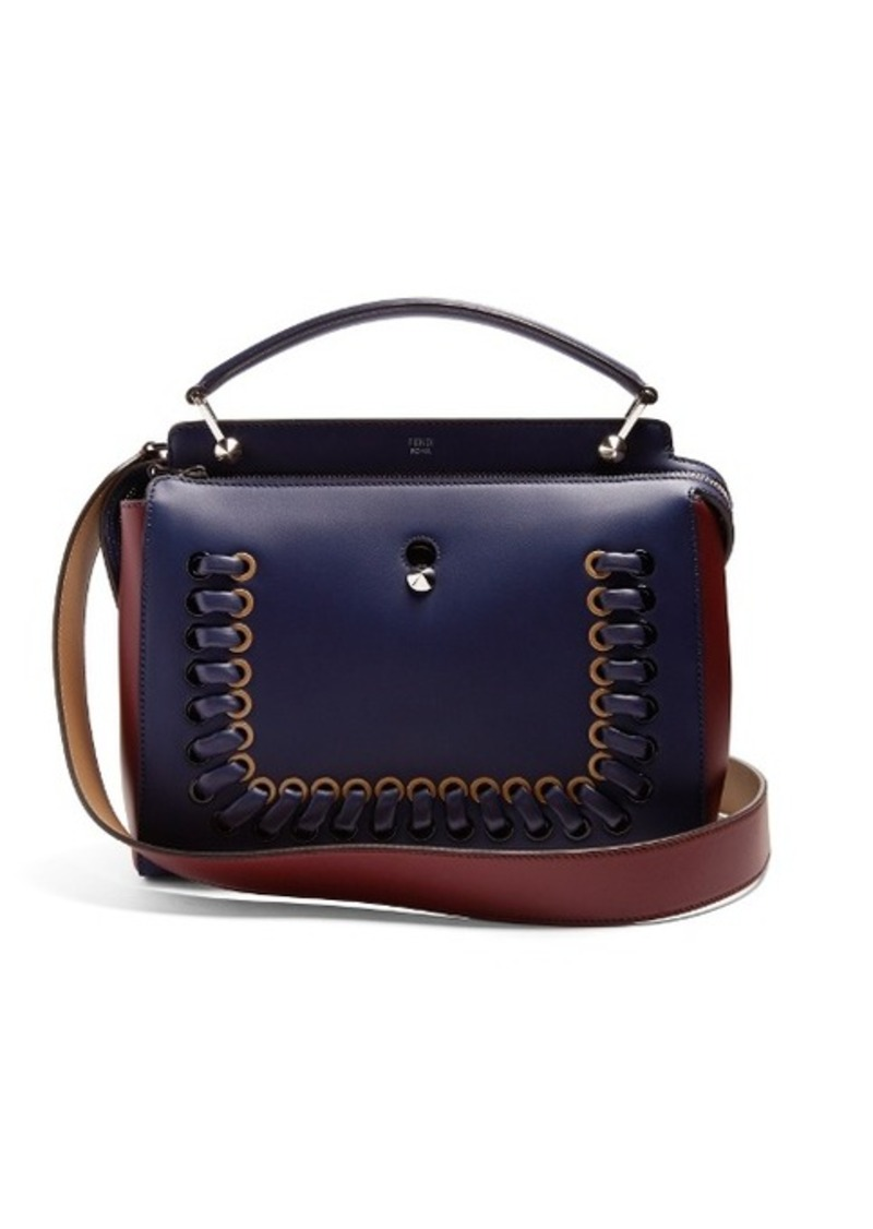 97291c953e96 On Sale today! Fendi Fendi Dotcom bi-colour whipstitch leather bag