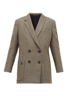 Fendi Double-breasted bow-back houndstooth wool jacket