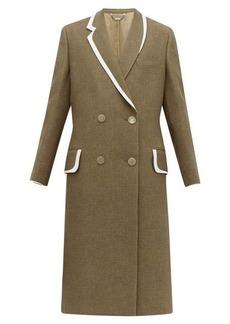 Fendi Double-breasted bow-back wool & silk-blend coat