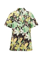 Fendi Dream Garden-print double-breasted cotton shirt
