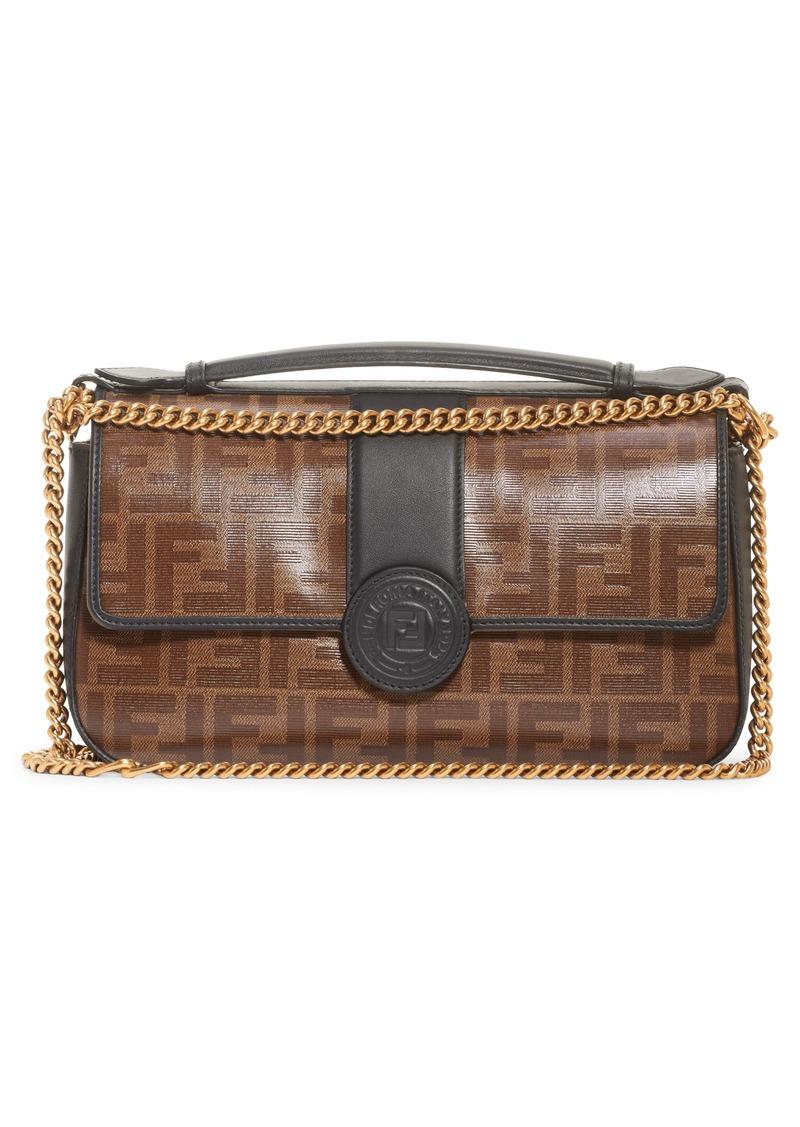 602aaf29fcaa Fendi Fendi Double-F Leather   Canvas Shoulder Bag