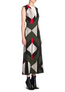 Fendi Double-Face V-Neck Midi Dress