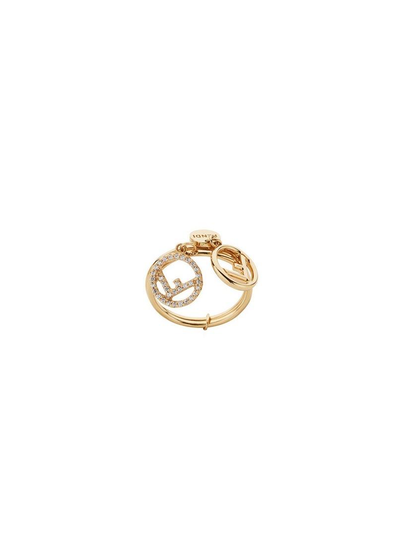 Fendi double-logo charm ring