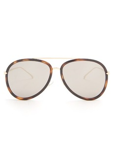 Fendi Double-rim aviator acetate sunglasses