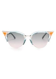 Fendi Embellished cat-eye metal sunglasses