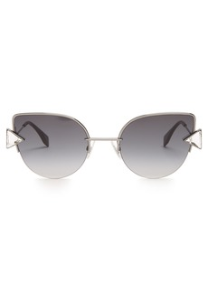Fendi Embellished cat-eye metal sunglasses