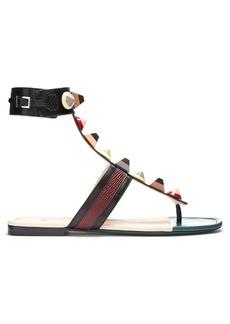 Fendi Embellished leather sandals