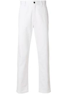 Fendi embellished straight leg jeans - White