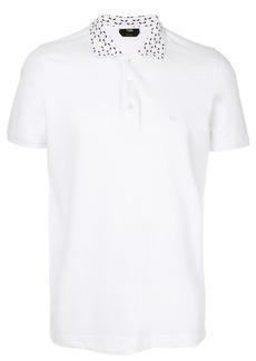 Fendi embroidered collar polo top