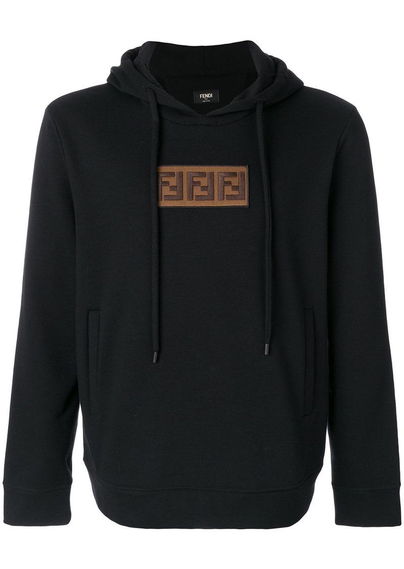 Fendi embroidered FF logo hoodie