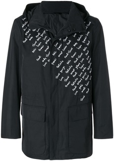 Fendi embroidered motif raincoat - Black