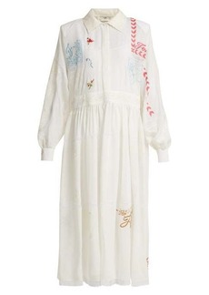 Fendi Embroidered voile gown