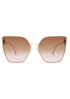 Fendi F is Fendi cat-eye metal sunglasses