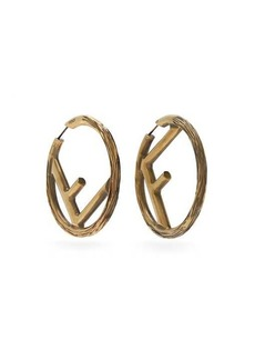 Fendi F-logo large hoop earrings