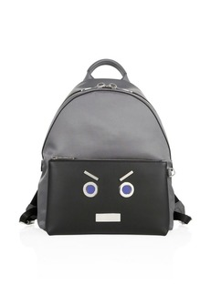 Fendi Faces Leather Backpack