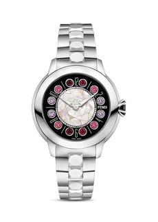 Fendi Fendi IShine Rotating Gemstones Watch, 33mm