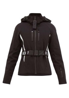 Fendi Fendi Roma coated-shell hooded ski jacket