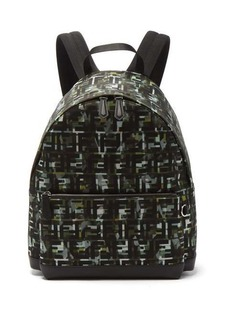 Fendi FF and camouflage-print backpack