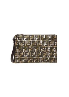 Fendi FF and camouflage-print pouch