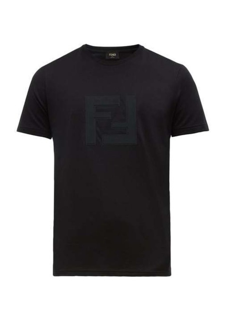 Fendi FF-appliqué cotton-jersey T-shirt