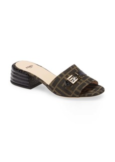 Fendi FF Buckle Slide Sandal (Women)