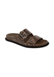 Fendi FF Buckle Slide Sandal (Women)