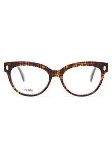 Fendi FF cat-eye acetate glasses