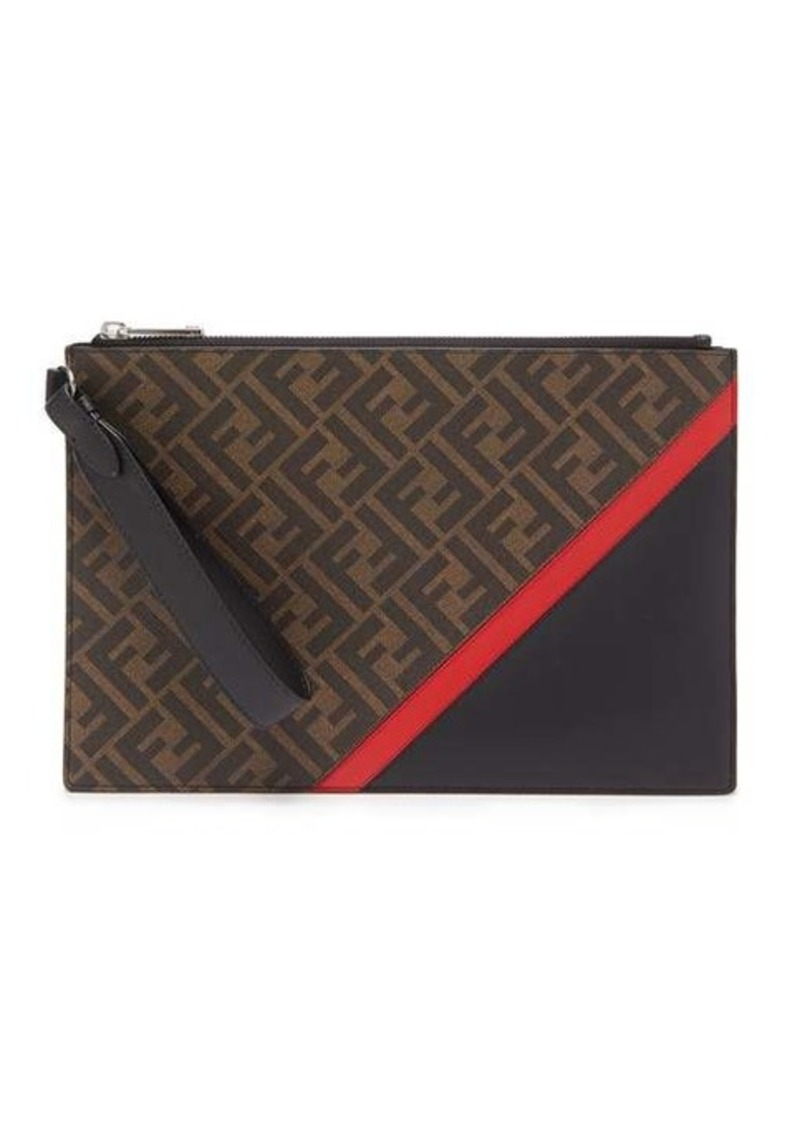 Fendi FF coated-canvas pouch