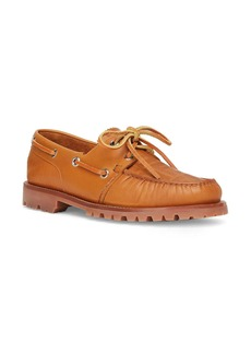 Fendi FF Embossed Boat Shoe (Men)