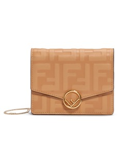 Fendi FF Embossed Leather Wallet on a Chain